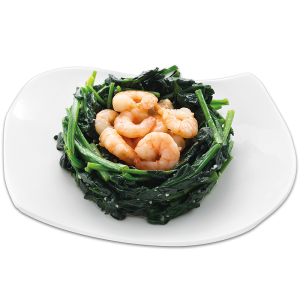 Spinach With Shrimp